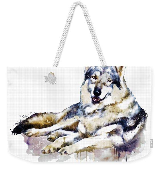 Smiling Wolf Weekender Tote Bag