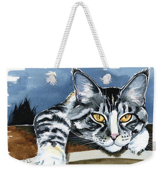 Smilla - Maine Coon Cat Painting Weekender Tote Bag