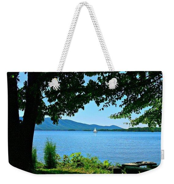 Smith Mountain Lake Sailor Weekender Tote Bag