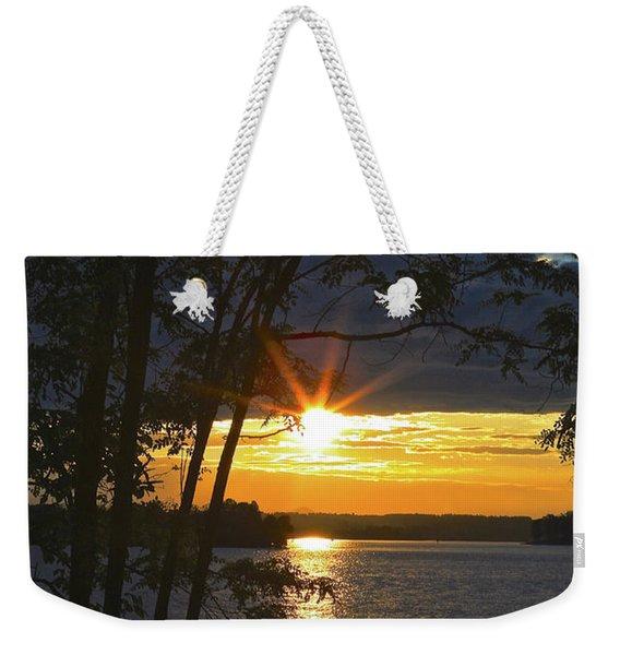 Smith Mountain Lake Summer Sunet Weekender Tote Bag