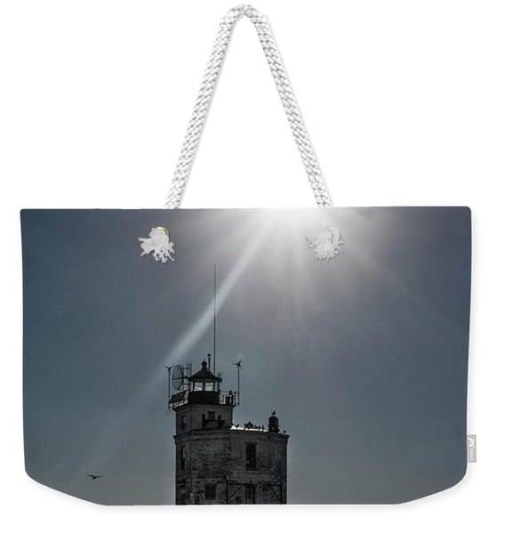 Smith Point Lighthouse Weekender Tote Bag
