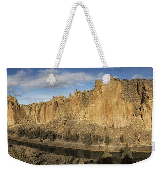 Smith Rock And Crooked River Panorama Weekender Tote Bag