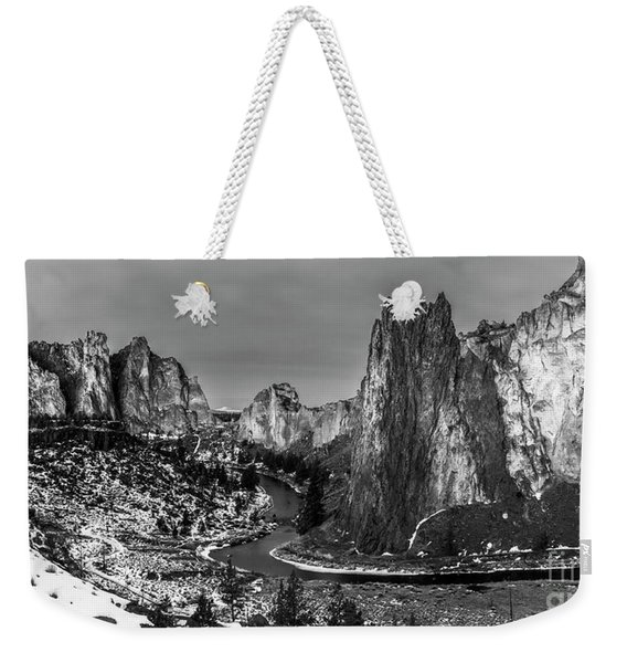 Smith Rock State Park Crooked River Weekender Tote Bag
