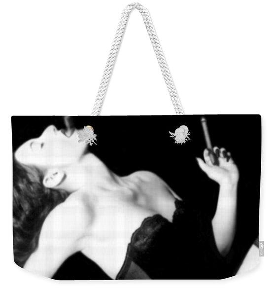 Smoke And Seduction - Self Portrait Weekender Tote Bag
