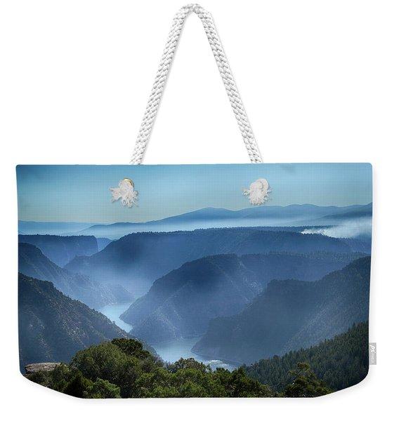 Smoke Over Flaming Gorge Weekender Tote Bag