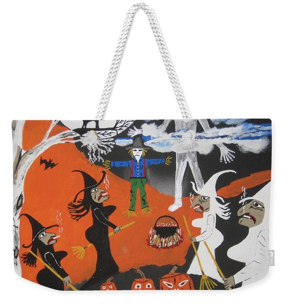 Smokey Halloween Weekender Tote Bag