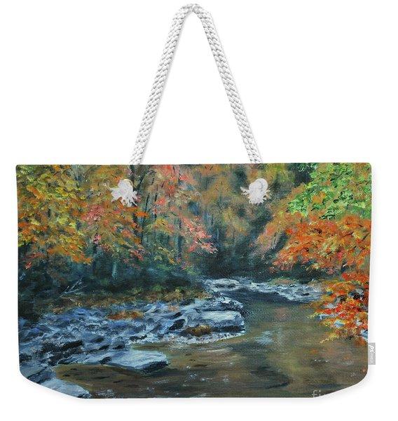Smokey Mountain Autumn Weekender Tote Bag