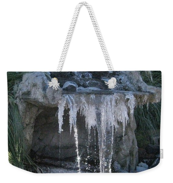 Smokey Stoves Frozen Falls Weekender Tote Bag