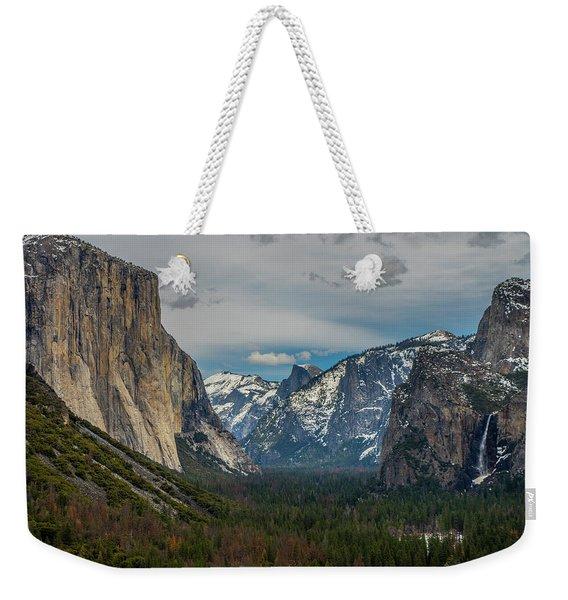 Smokey Yosemite Valley Weekender Tote Bag