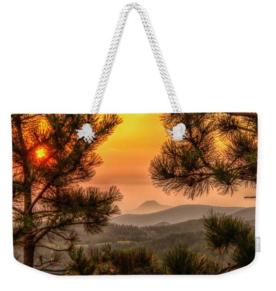 Smoky Black Hills Sunrise Weekender Tote Bag