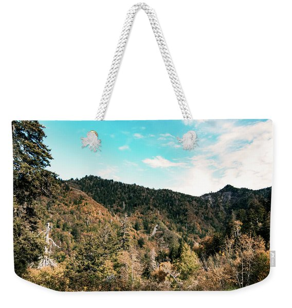 Weekender Tote Bag featuring the photograph Smoky Mountains by Sally Sperry