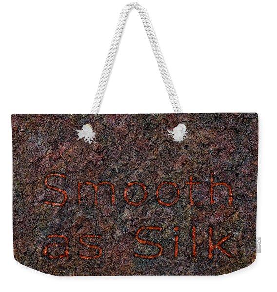 Smooth As Silk Weekender Tote Bag