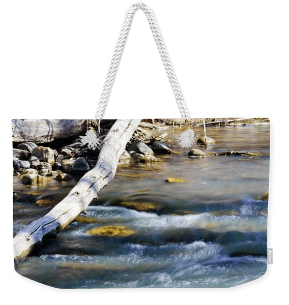 Smooth Water Weekender Tote Bag