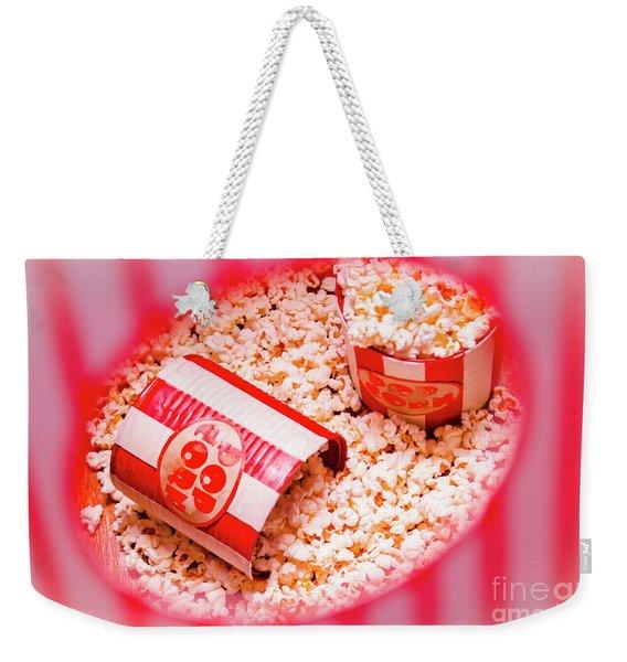 Snack Bar Pop Corn Weekender Tote Bag