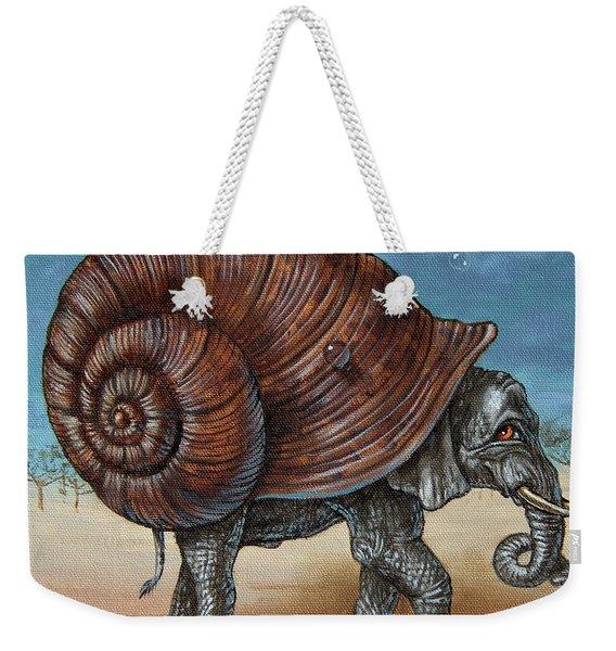 Snailephant Weekender Tote Bag