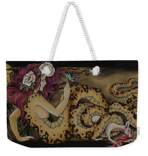 Snake Lady Weekender Tote Bag