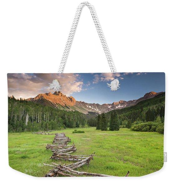 Sneffels Fence Horizontal Weekender Tote Bag