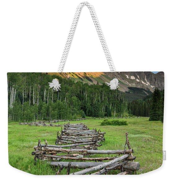 Sneffels Fence Vertical Weekender Tote Bag