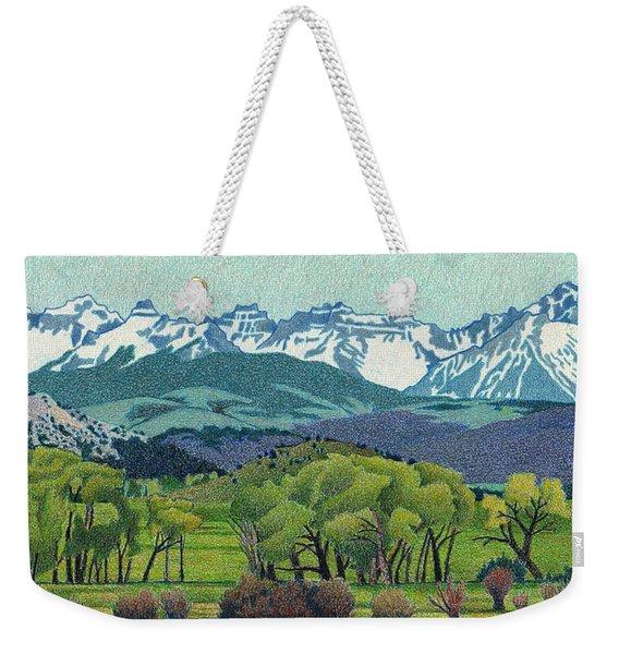Sneffels Range Spring Weekender Tote Bag