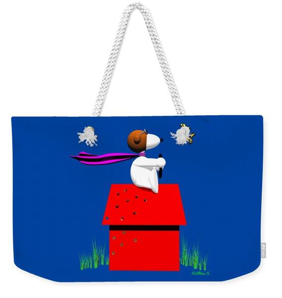 Snoopy Evades The Red Baron Weekender Tote Bag