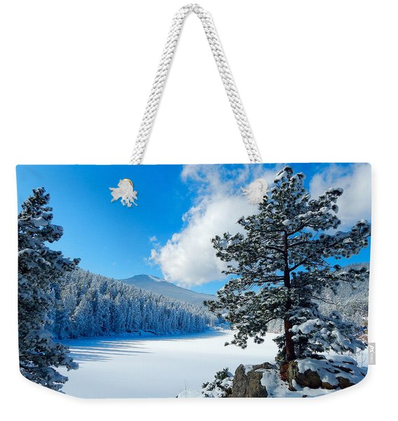 Snow At Beaver Brook Weekender Tote Bag