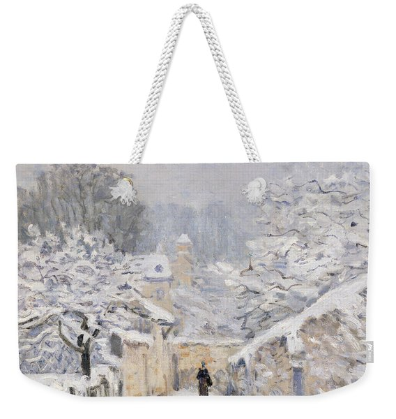Snow At Louveciennes Weekender Tote Bag