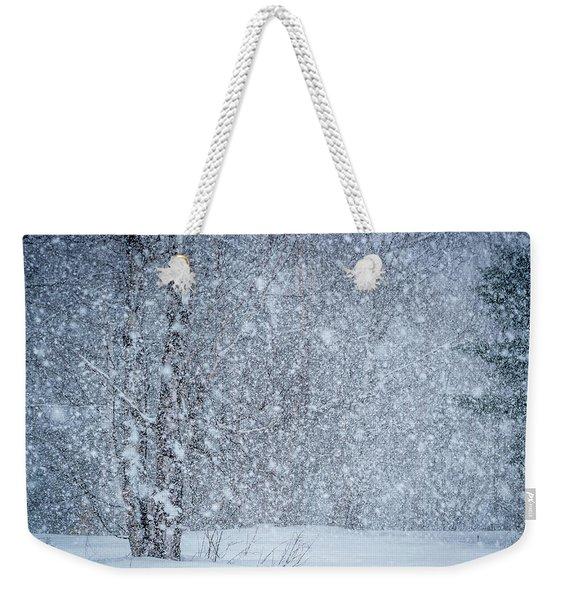 Snow Blind Weekender Tote Bag