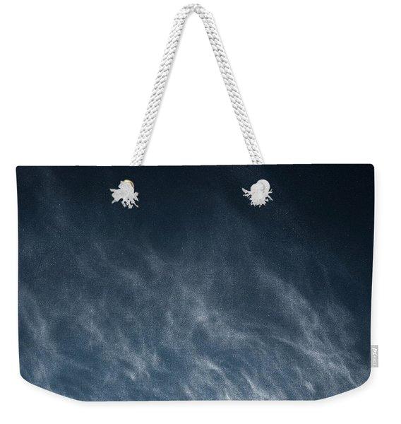 Snow Blown Off A Roof Weekender Tote Bag