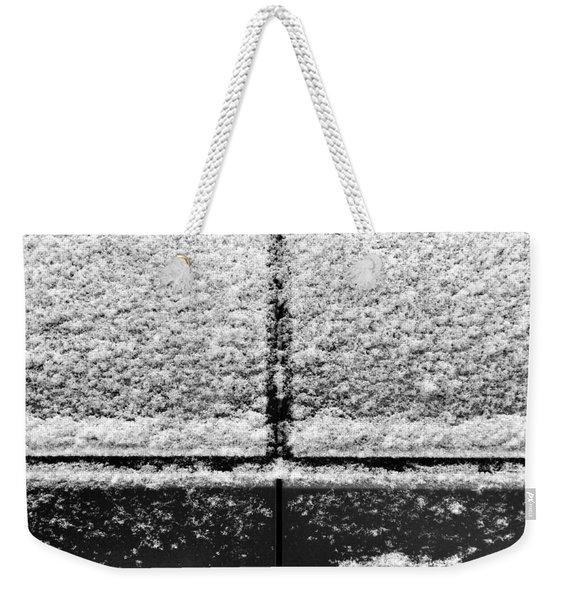 Snow Covered Rear Weekender Tote Bag