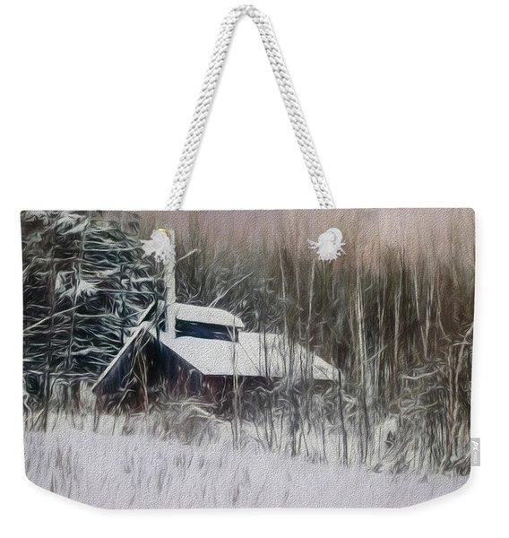 Snow Covered Vermont Sugar Shack.  Weekender Tote Bag