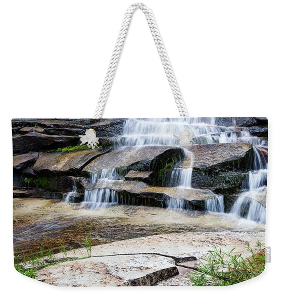 Weekender Tote Bag featuring the photograph Snow Creek Cascade by Tim Newton