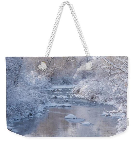 Snow Creek Weekender Tote Bag