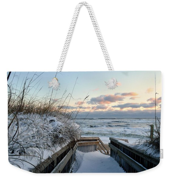 Snow Day At The Beach Weekender Tote Bag