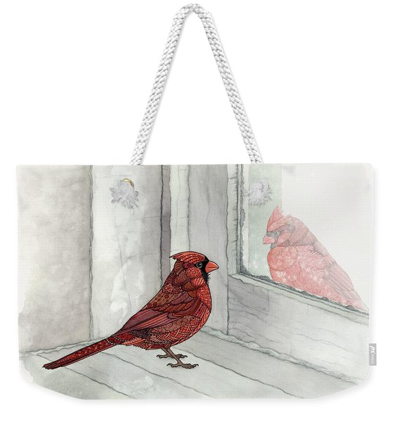 Weekender Tote Bag featuring the painting Snow Day by ZH Field