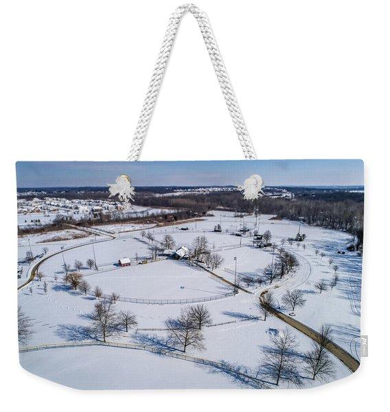 Snow Diamonds Weekender Tote Bag