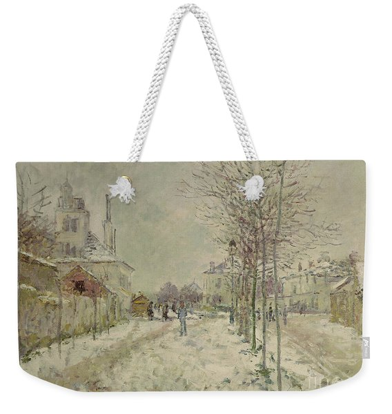 Snow Effect Weekender Tote Bag