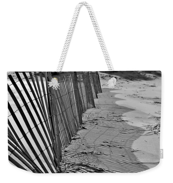 Snow Fence Weekender Tote Bag