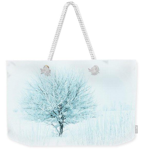 Snow Field Tree Weekender Tote Bag