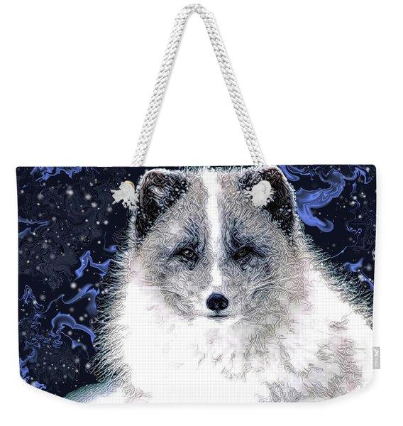Snow Fox Weekender Tote Bag