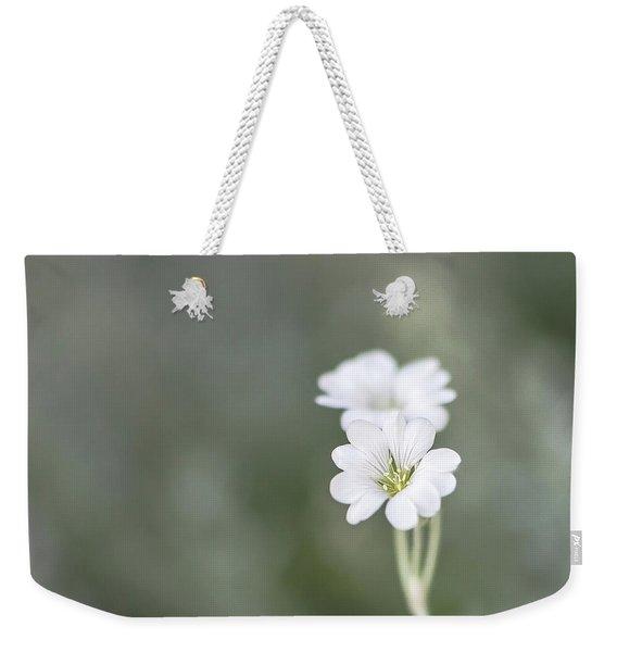 Snow In Summer Weekender Tote Bag