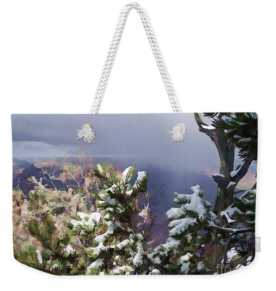 Snow In The Canyon Weekender Tote Bag