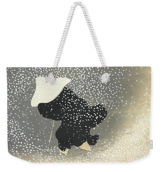 Snow In The Countryside Weekender Tote Bag