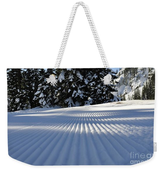 Snow Is Groovy Man Weekender Tote Bag