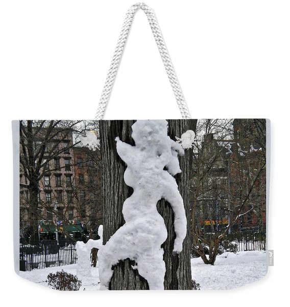 Snow Lady Weekender Tote Bag
