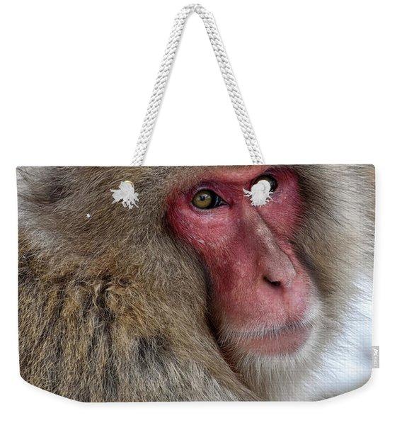 Snow Monkey Weekender Tote Bag