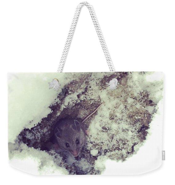 Snow Mouse Weekender Tote Bag