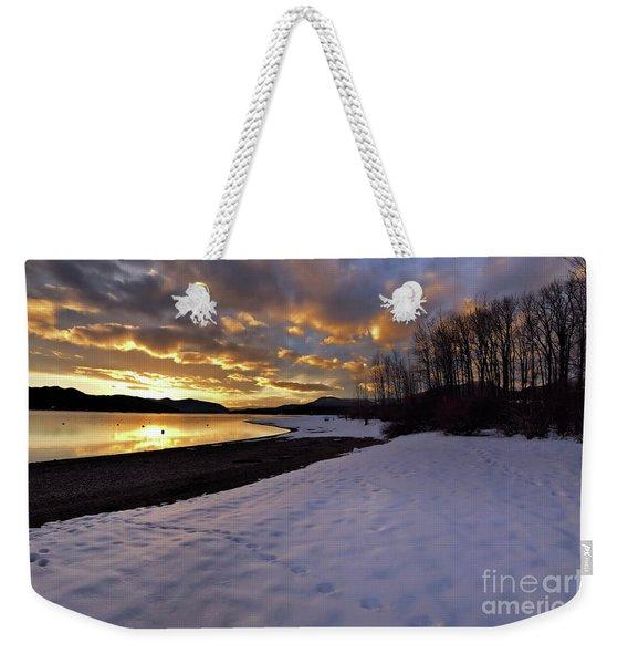 Snow On Beach Weekender Tote Bag