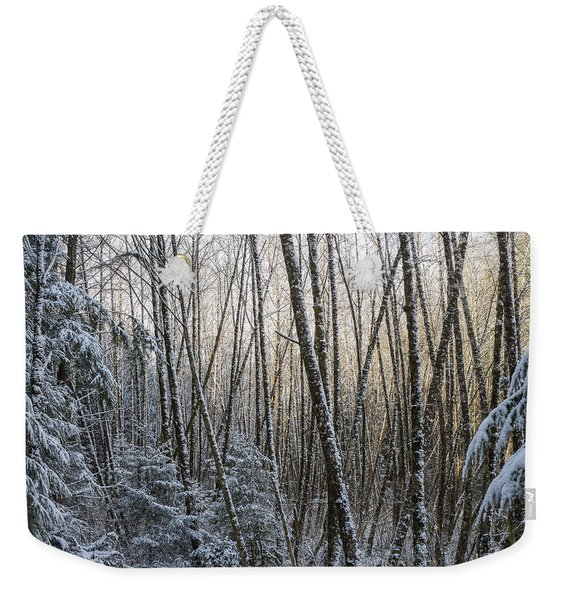 Snow On The Alders Weekender Tote Bag