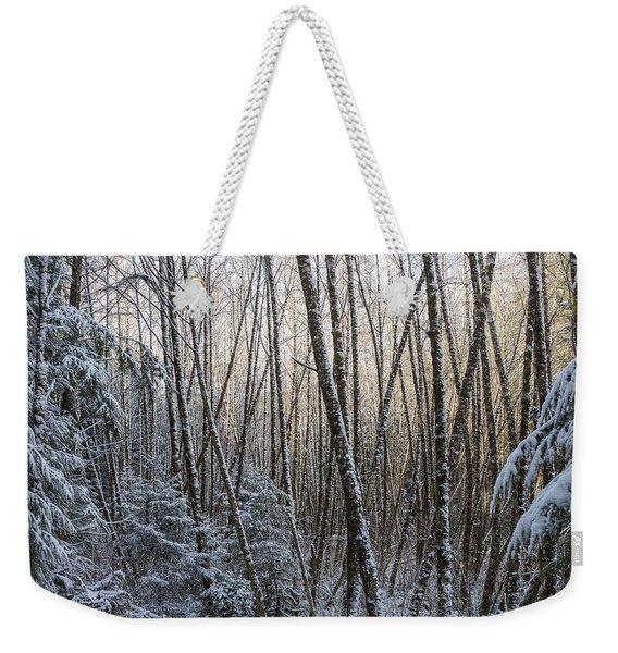 Snow On The Alders Weekender Tote Bag