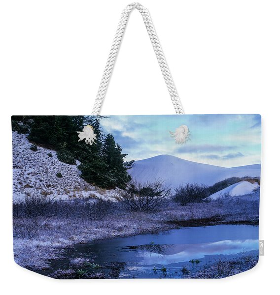 Snow On The Sand Weekender Tote Bag